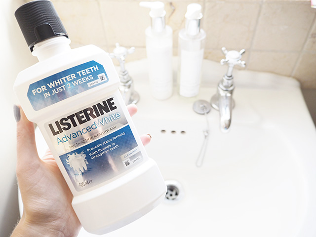 My Morning Beauty Routine, featuring Listerine Advanced White Mouthwash and wild about beauty lipstick